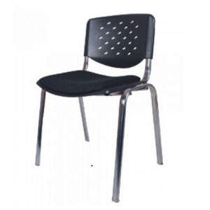VJ Interior Acero Metal Chair Black 16 x 16 x 15 Inch VJ-0209