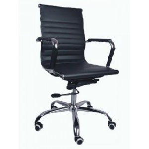 VJ Interior Escalera Conference Office Chair Black 19 x 19 x 18 Inch VJ-008