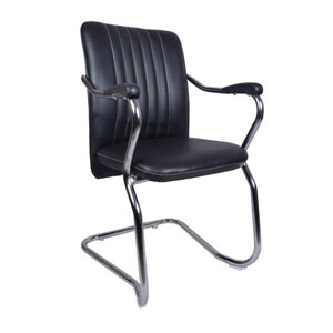VJ Interior Invitado Mid Back Guest Chair Black 19 x 20 x 15 Inch VJ-0281