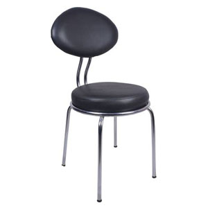 VJ Interior Spacio Chair With Fix Frame Black 20 x 21 x 18 Inch VJ-0050