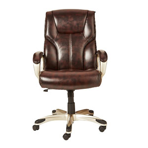 VJ Interior High Back Chair Brown 20 x 21 x 30 Inch VJ-0285