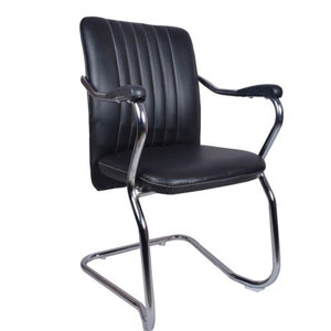 VJ Interior Invitado Mid Back Guest Chair Black 16 x 20 x 15 Inch VJ-0257