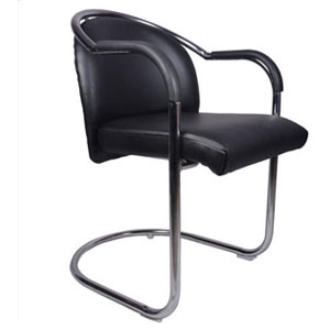 VJ Interior Integro Mid Back Guest Chair Black 18 x 17 x 32 Inch VJ-0271