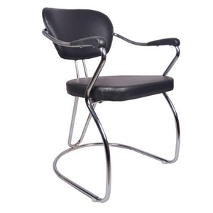 VJ Interior Atractivo Mid Back Guest Chair Black 19 x 19 x 32 Inch VJ-0266