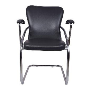 VJ Interior Doblar Mid Back Guest Chair Black 18 x 18 x 36 Inch VJ-0260