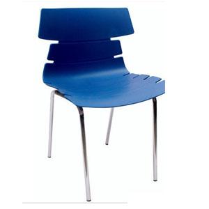 VJ Interior Alisar Steel Frame Plastic Chair Blue 17 x 18 x 14 Inch VJ-0278
