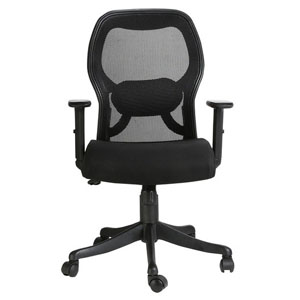 VJ Interior Cintura Black Color Executive Chair
