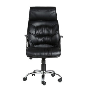 VJ Interior Doblepiel Black Color Executive Chair