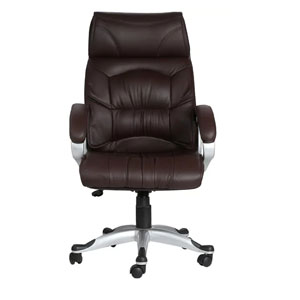 VJ Interior Doblepiel Brown Color Executive Chair