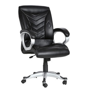VJ Interior Estrella Black Color Executive Chair