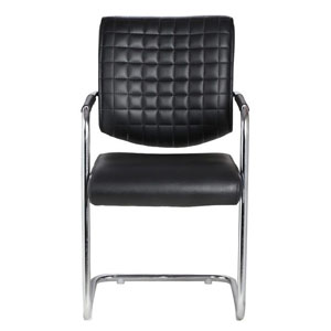 VJ Interior Aleman Black Color Visitor Chair