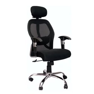 VJ Interior Executive Net Back Chair Black 22 x 22 x 29 Inch VJ-365