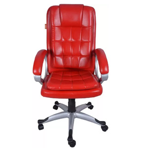 VJ Interior Lovely Executive Hi Back Chair Red 20 x 21 x 30 Inch VJ-0055
