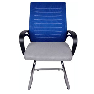 VJ Interior Arreglar Blue Grey Chair With Fix Frame Grey and Blue VJ-0085