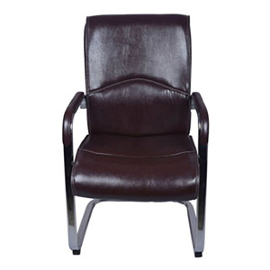 VJ Interior Visitor Chair With Fix Frame Cherry 19 x 20 x 21 Inch VJ-0095