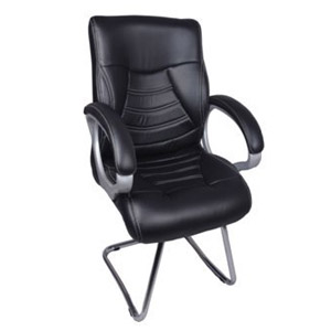 VJ Interior Century Black Visitor Chair With Fix Frame Black VJ-0100