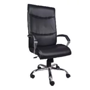 VJ Interior Escaso High Back Chair Black 20 x 21 x 30 Inch VJ-0112