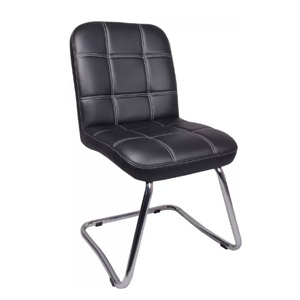 VJ Interior Independencia Visitor Chair Black 19 x 20 x 21 Inch VJ-0117