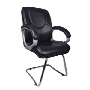 VJ Interior Luctator Visitor Chair Black 19 x 20 x 21 Inch VJ-0121