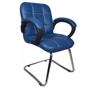 VJ Interior Azul Low Back Visitor Chair Blue 19 x 20 x 21 Inch VJ-0166