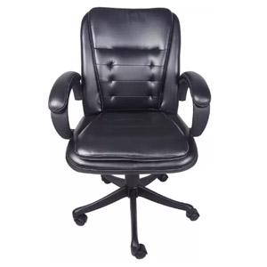 VJ Interior Belleza Mid Back Chair Black 20 x 21 x 30 Inch VJ-0144