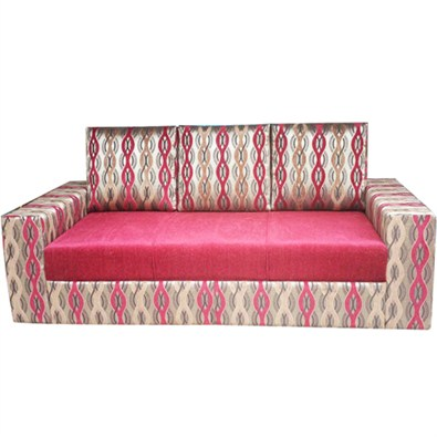 Indograce Sofa Set (Red/ Multi color)