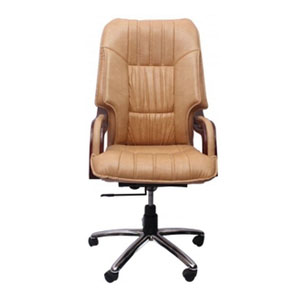 VJ Interior Executive Chair Light Brown 21 x 23 x 48 Inch VJ-261-EXECUTIVE-HBW