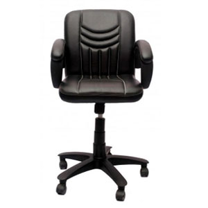VJ Interior Visitor Chair Black 19 x 22 x 41 Inch VJ-49-VISITOR-LB