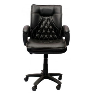 VJ Interior Visitor Chair Black 19 x 22 x 41 Inch VJ-53-VISITOR-MB