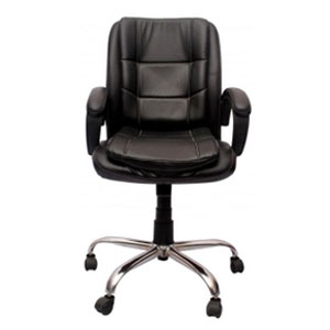 VJ Interior Visitor Chair Black 19 x 22 x 41 Inch VJ-57-VISITOR-LB