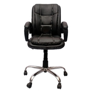 VJ Interior Visitor Chair Black 19 x 22 x 41 Inch VJ-60-VISITOR-LB