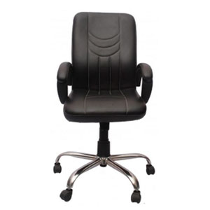 VJ Interior Visitor Chair Black 19 x 22 x 41 Inch VJ-85-VISITOR-MB