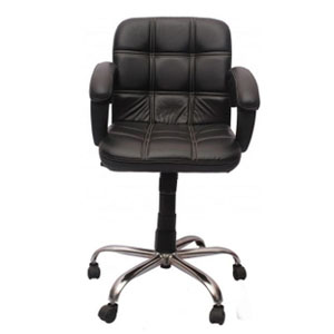 VJ Interior Visitor Chair Black 19 x 22 x 41 Inch VJ-89-VISITOR-LB