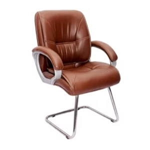 VJ Interior MB Visitor Chair Light Brown 19 x 20 x 21 Inch VJ-317