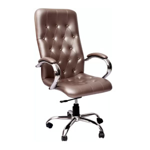 VJ Interior Executive Chair Silver 21 x 21 x 30 Inch VJ-322