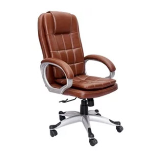 VJ Interior Executive Chair Red Brown 21 x 21 x 30 Inch VJ-325