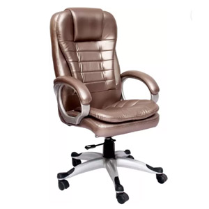 VJ Interior Executive Chair Silver 21 x 21 x 30 Inch VJ-329