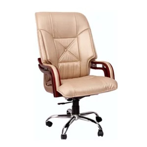 VJ Interior Executive Chair Cream 21 x 21 x 23 Inch VJ-337
