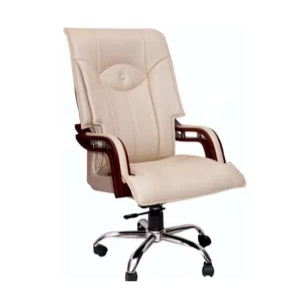 VJ Interior Executive Chair Off White 21 x 21 x 23 Inch VJ-341