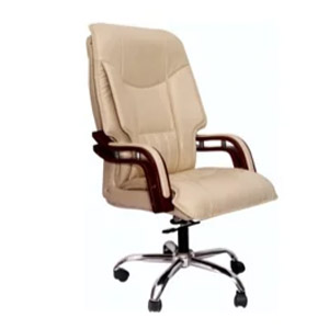 VJ Interior Executive Chair Dark Cream 21 x 21 x 23 Inch VJ-346