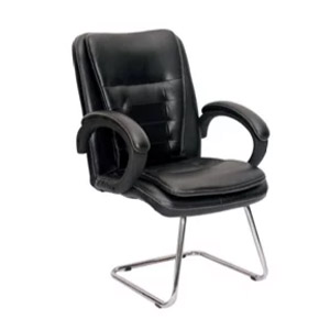 VJ Interior MB Visitor Chair Black 19 x 20 x 20 Inch VJ-349