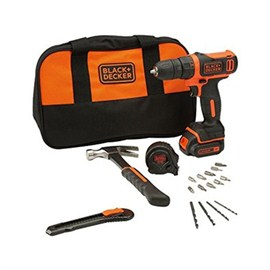 BLACK+DECKER -Drill Kit with Storage Bag (BDCDD12HTSA)