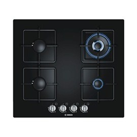 Bosch Black Hard Glass Gas Hob  (PPH616B1TI)
