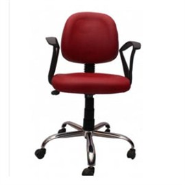VJ Interior Visitor Chair Red 19 x 19 x 39 Inch VJ-297-VISITOR-RBY