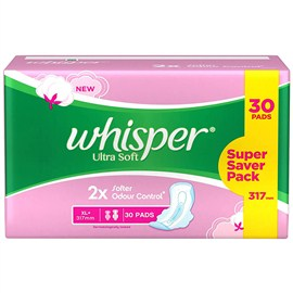 Whisper Ultra Soft Sanitary Pads XL (30 Count)