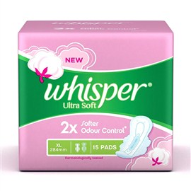 Whisper Ultra Soft Sanitary Pads XL (15 Count)