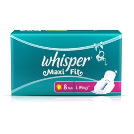 Whisper Maxi Fit - L Wings (8 Pads)