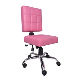 VJ Interior Rosado Study And Task Chair Pink 19 x 20 x 21 Inch VJ-0184