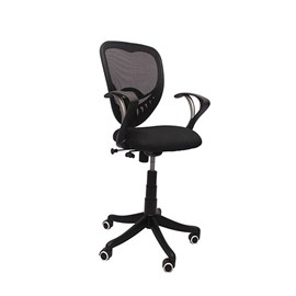 VJ Interior Visitor Chair Black 18 x 17 x 37 Inch VJ-17-VISITOR-LB