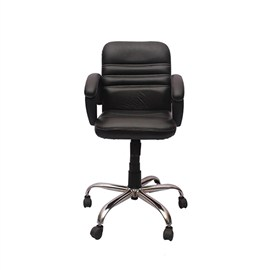 VJ Interior Visitor Chair Black 19 x 19 x 39 Inch VJ-105-VISITOR-LB